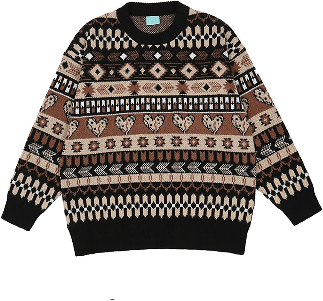 Vintage Pullover Knitwear Men's Sweater Autumn Oversized Sweaters Couple Clothing