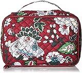 Vera Bradley Women's Signature Cotton Large Blush & Brush Makeup Organizer Case, Bordeaux Blooms