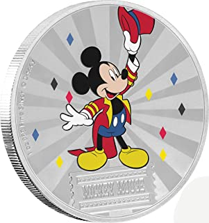 Brand New $2 Brilliant Uncirculated 1 oz 2017 NU Disney Mickey Through the Ages Series: Delayed Date Sixth Coin of the Series Silver Proof