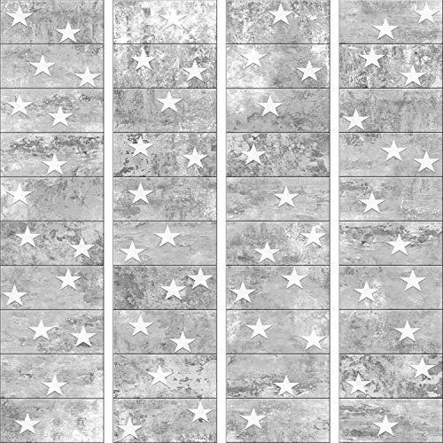murando - PURO TAPETE selbstklebend 10m Wandtattoo dekorative Möbelfolie Dekorfolie Fotofolie Panel Wandaufkleber Wandposter Wandsticker - Sterne Beton f-A-0377-j-b