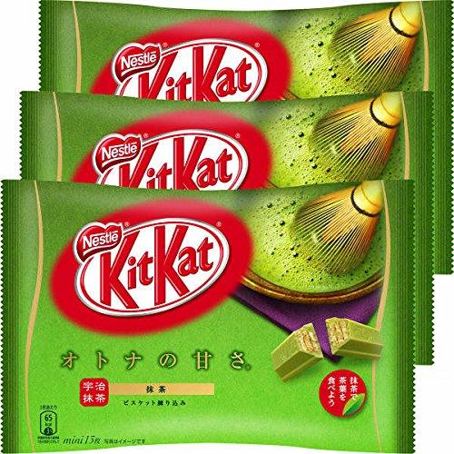 Japanese Kit Kat Maccha Green Tea Flavor 13 Mini Bar ( set of 3 )