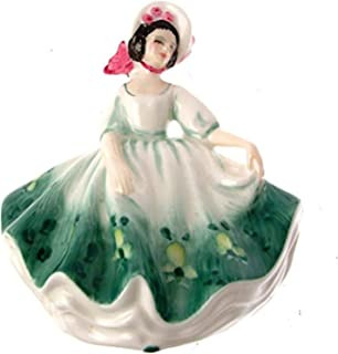 Royal Doulton c1993 figurine HN3218 - Sunday Best - small size - Green floral dress - GC17