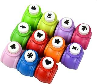 Szaerfa 8 Pièces Mini perforatrices de Perforation en Papier à Motifs variés, faciles à Utiliser, idéales pour l'artisanat...
