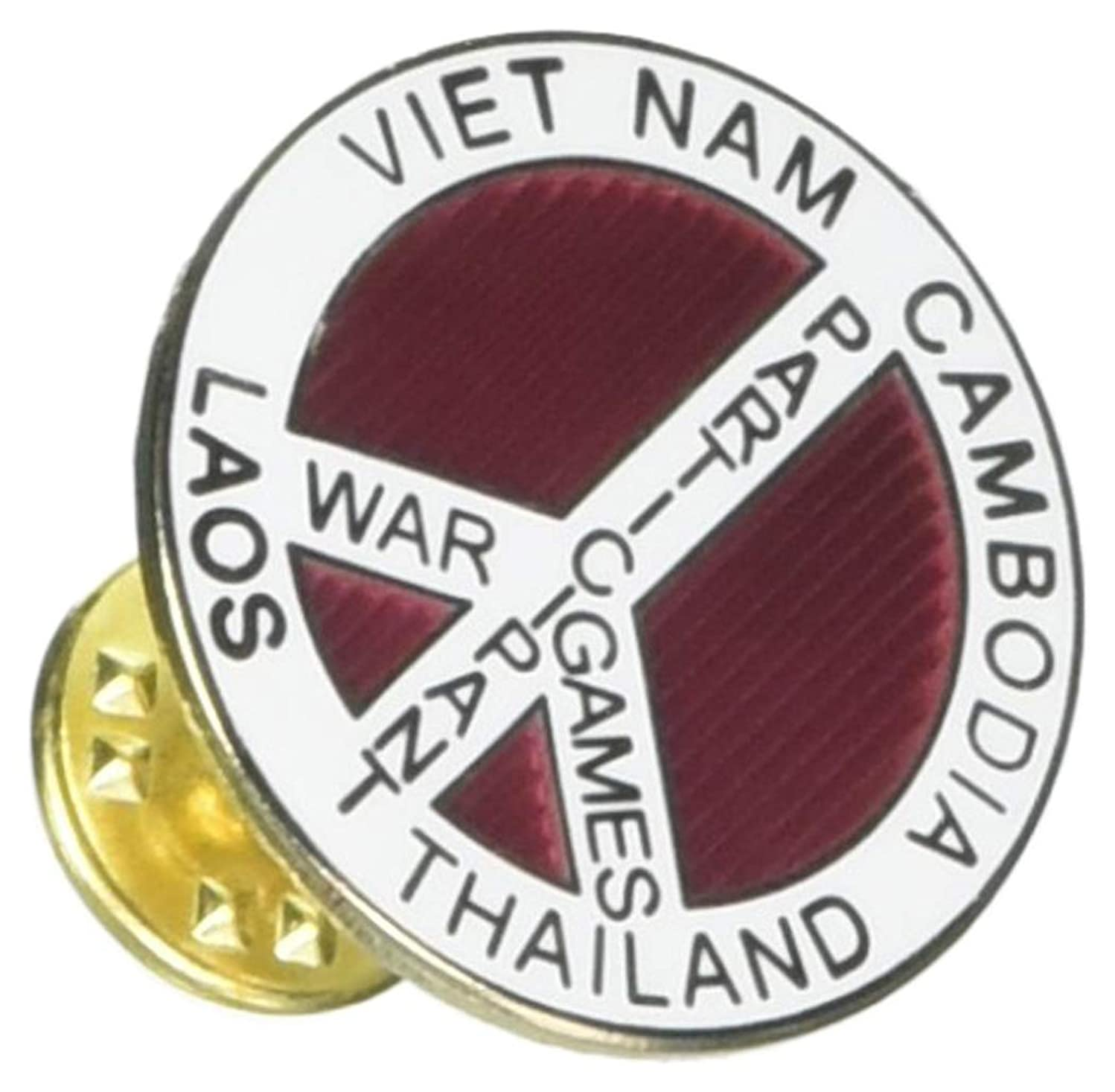 EagleEmblems P14676 Pin-Viet,War Game,SE Asia (Wht) (1'')
