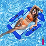 Inflatable Swimming Pool Float Hammock for Adults with Side Arms,...