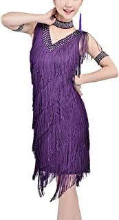 Whitewed 20's Great Gatsby Style Beaded Vintage Halloween Party Clothes Dress XL