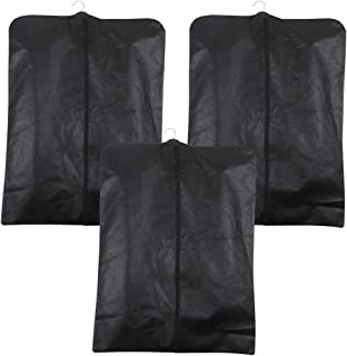 PrettyKrafts Foldable Non Woven Coat Cover (Set of 3 pcs) - Black