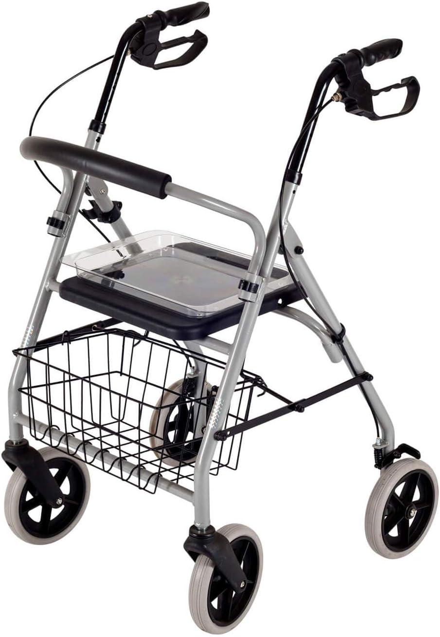 Fácil de peso andador con ruedas Gigo incluido bandeja y de mimbre