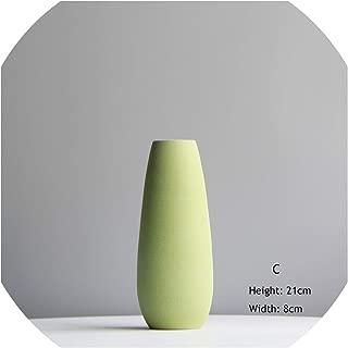 Minimalist Solid-Color Flower Vase Colorful Ceramic Flower Vase Desktop Mini Vase Home Decorative Craft,C