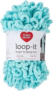 RED HEART E884.0580 Loop-It Yarn, Aqua-Scuse Me