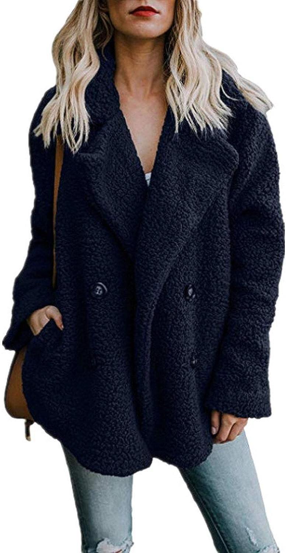 LIAOYLY High end Women's Jackets Winter Coat Women Cardigans Ladies Warm Jumper Fleece Faux Fur Coat,
