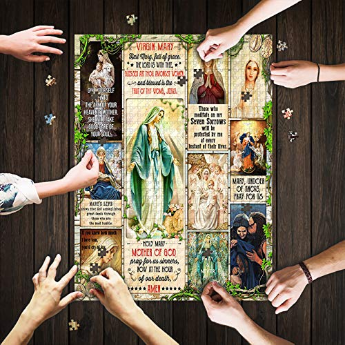 Funny Gifts Games for Adults Children Puzzle Mat Adult Puzzles American Faith Cross Jigsaw Puzzle 500 Pieces Mod Podge
