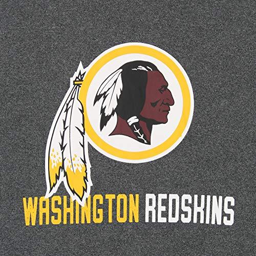 Zubaz NFL Washington Redskins Men's Heather Grey Performance Fleece Hoodie Size Large
