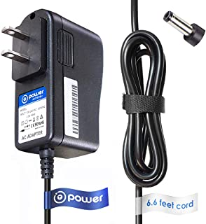 T-Power 9vdc (6.6ft Long Cable) AC Adapter Charger Compatible with Casio Piano Keyboard AD-5 AD-5MU AD5MU AD-5MLE AD-5GL AD5GL TC1#1035 (CTK, CA, MA, HT, LK, CT, Series) Power Supply Cord Charger