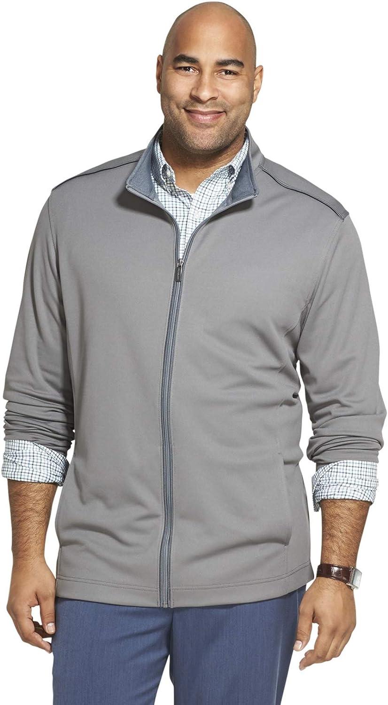Van Heusen Men's Big and Tall Traveler Long Sleeve Full Zip Knit Jacket