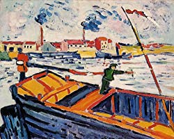 モーリス・ド・ヴラマンク「運河船」1906年