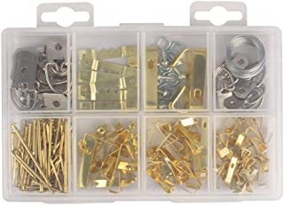 Picture Frame Hanging Kit, 240 Pieces Completed Edition Wall Mount Picture Hanger Kit with Wire, Screws, Hooks, Nails, Sawtooth Hangers, Screw Eyes, Picture Hangers Assorted