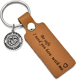Father's Day Gifts Drive Safe Leather Keychain Be Safe I Need You Here with Me Mom Dad Boyfriend Husband Keychain