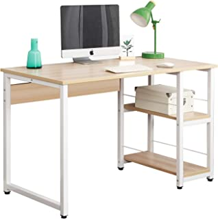 Soges 47 inches Computer Desk Home Office Desk Modern Style with Open Shelves Worksation, Maple DZ013-120-M