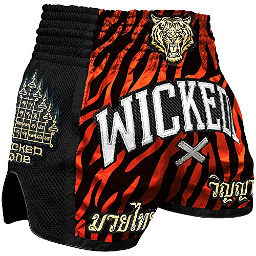 Wicked One Muay Thai Shorts, Tiger Stripes, XXL