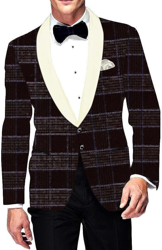 INMONARCH Mens Now on sale Slim fit Casual Wine Checks Blazer Jacket C Sport Rare
