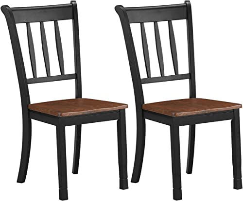 new arrival Giantex Solid Wood Whitesburg Dining Chairs, Set of 2, Spindle Back, Wood Seating, wholesale Hammis Dining Room Chairs, Suitable for discount Dining Room, Kitchen, Restaurant, Antique Dining Side Chairs (2, Black) online sale
