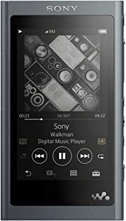 ソニー SONY ウォークマン Aシリーズ 16GB NW-A55 : Bluetooth microSD対応 ハイレゾ対応 最大45時間連続再生 2018年モデル グレイッシュブラック NW-A55 B