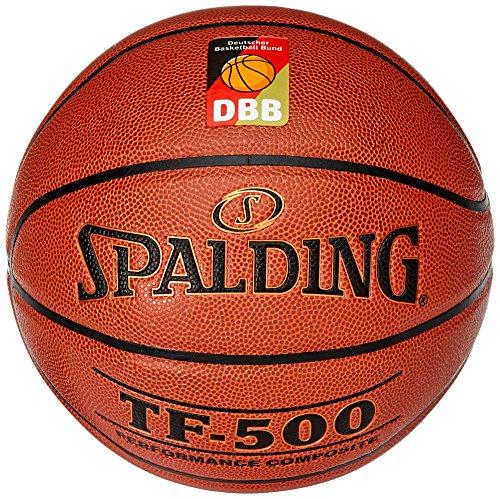 Spalding Basketball Tf500 Dbb Indoor (74-591z) Ball, orange, 7