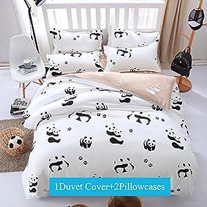 Ttmall 3-pieces Microfiber Duvet Cover Set, Brown Coffee Black Leopard Skin Patterns Design Prints,Without Comforter