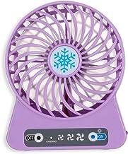 YUN&DSC Mini Fan Oplaadbare USB Mini Fan Handheld Creatieve Kunst Student Slaapzaal Draagbare 4.5w (Kleur: Paars)