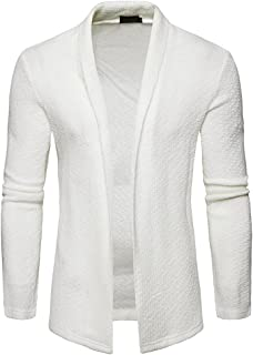 FRAUIT Herren Strickjacke Strickwaren Männer Einfarbig Jacke Lange Business Übergangs Mantel Freizeit Reisen Sport Party Tanzparty Warm Bequem Kleidung Top Outwear Coat Bluse 100% Baumwolle