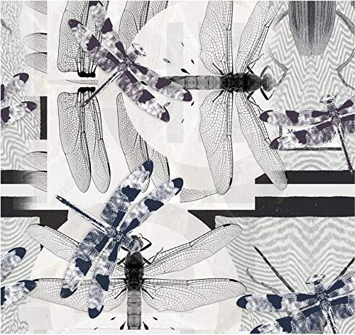 Papel Pintado 3D Patrón de insectos continuo cuadrado de moda nórdica. Fotomurales Pared Dormitorio Papel Pintado Fotográfico Mural Decoración