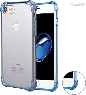 iPhone 7/8 Case CaseHQ Shockproof Slim Anti-Scratch Heavy Duty Rugged Cases Covers Soft TPU Bumper Hard Back Cover Scratch Resistant Premium Protective Shock Absorption Cushion(Blue iPhone 7/8 Case)
