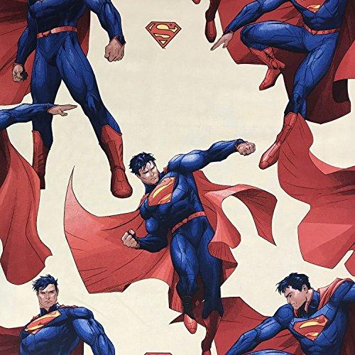 Lizenzprodukt Superman Cavill Neuheit Premium Grade 100% Baumwolle feines Gewebe Kinder Vorhang Betten Stoff 140cm breit, Meterware,