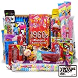VINTAGE CANDY CO. 1960's RETRO CANDY GIFT BOX - 60s Nostalgia Candies - Flashback SIXTIES Fun Gag Gift Basket - PERFECT '60s Candies For Adults, College Students, Men or Women, Kids, Teens