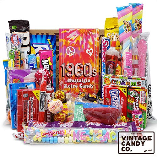 VINTAGE CANDY CO. 1960's RETRO CANDY GIFT BOX - 60s Nostalgia Candies - Flashback SIXTIES Fun Gag...