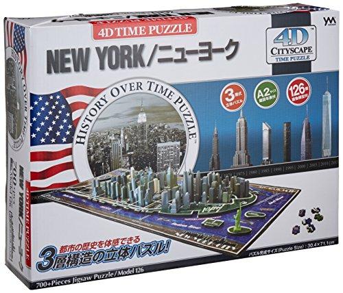 YANOMAN 4D CITY SCAPE TIME PUZZLE - NEW YORK (700 Piece Puzzle) (japan import)
