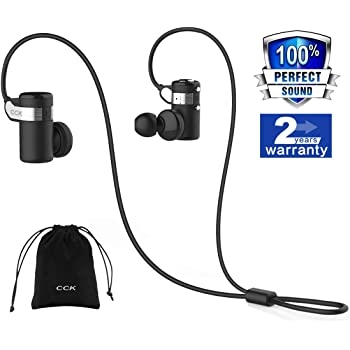 Amazon Com Cck Bluetooth Headphones Wireless Earbuds Sports Best Running Earphones Hi Fi Stereo Noise Cancelling Sweatproof For Gym Workout Exercising In Ear Headsets Computer Iphone Android Black S M L Electronics