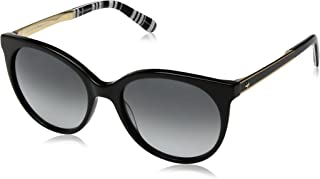 Kate Spade Women's Amaya/s Round Sunglasses, Black PATRN BKL, 53 mm