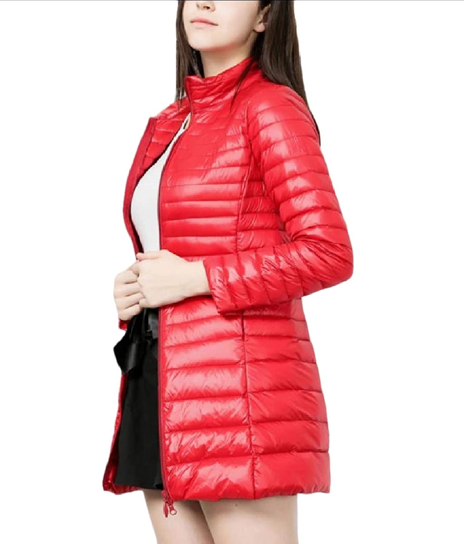 Mfasica Womens Packable Hoode Lightweight Curvy Slimming Down Puffer