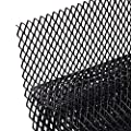 "AggAuto Universal 40""x13"" Car Grill Mesh - Aluminum Alloy Automotive Grille Insert Bumper Rhombic Hole 10x20mm, One of the Most Multifunctional Shape Grids Black"
