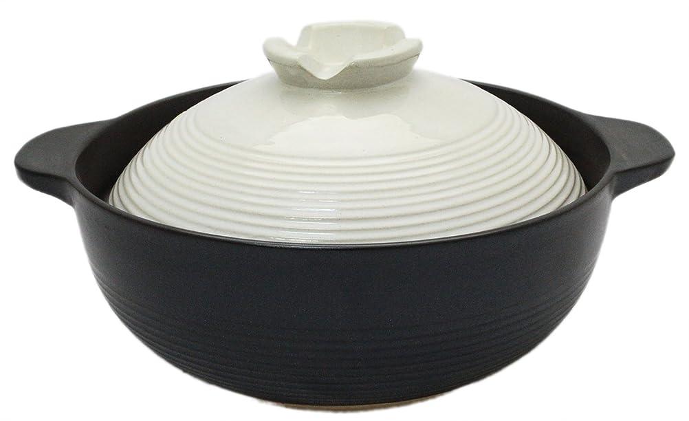 リアル予測スローガン土鍋 6号 宴 1人用 ふきこぼれにくい 19.5cm