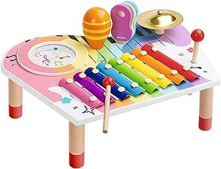 BeebeeRun Ensemble Instruments de Musique pour Bébé, Xylophone pour Enfants, Coffret Cadeau d'anniversaire pour Garçons Fi...
