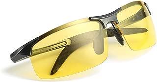 gafas de so polarizadas amarillas para hombre de la conduccion nocturna/la motos nocturna/la bicicletas nocturna - 100% protección UVA UVB