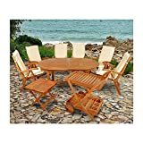 indoba XL Premium Gartenmöbel Set 15-teilig ! Gartenset inkl, Auflagen - Tisch Gartenstühle Servierwagen Beistelltisch Gartenmöbelset