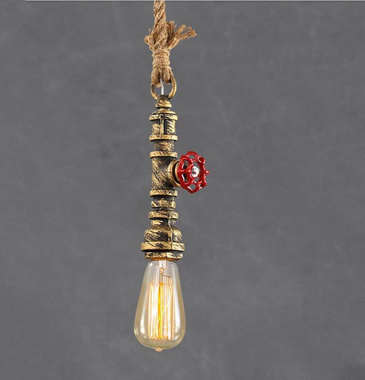 ventas directas de fábrica Cdbl-Luces de Techo Loft araa araa araa Retro lámpara de Viento Industrial Personalidad Creativa de una Sola Cabeza Barra de Agua de Restaurante Bar candelabro (Color   2)  caliente