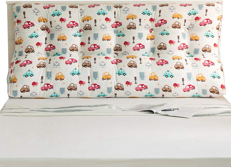 KKCF Headboard Cushion Backrest Triangle Stereoscopic Detachable Bedroom Canvas, 4 colors, 7 Sizes (color   C, Size   Length 120cm)