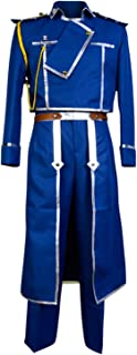 Fullmetal Alchemist Colonel Roy Mustang Military Uniform Cosplay Costume Halloween Suit