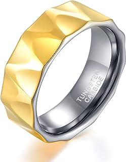 كاماساتو 8 مم رجل تينجستن خاتم زفاف عالية البولندية الخطبة خواتم الخطبة للرجال الذهب والفضة الراحة صالح