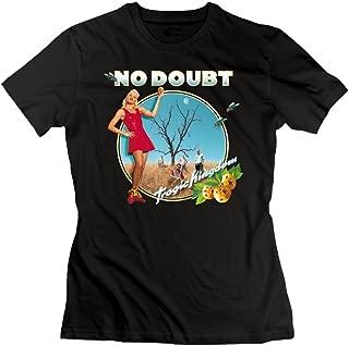Ulongpoq Women's No Doubt Tragic Kingdom Cotton T Shirt Black